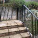 Bespoke handrail installed to garden steps