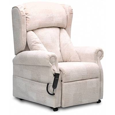 white adjustable chair
